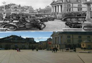 Last Summer, a man found a lot of WWII pictures of his city of Dijon, France. He decided to re-take them as closely as possible, after a 70 year timespan.