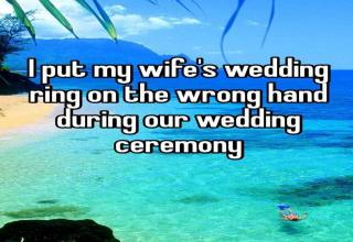 People on the internet shared some of their most embarrassing wedding moments.