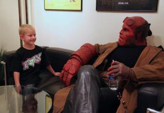 Zachary, a young terminally ill boy wanted nothing more than to meet and eventually become Hellboy.
