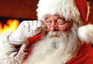 Proof Santa is white