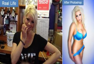 Look how Photoshop can be used to turn normal girls like me into hot babes.
