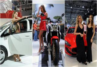 """In recent days, the Moscow Motor Show held an exhibition in which global companies presented the latest models of their cars. Cars surrounded by lots of beautiful women, nice to admire the newest """"models""""."""