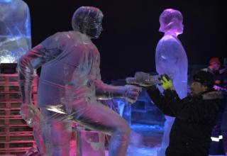 ICE SCULPTURE FESTIVAL IN BELGIUM