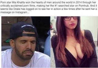 Mia Khalifa shuts down Drake after receiving messages from him on social media.