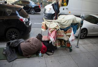 San Francisco California has long had a large homeless population due to its hospital climate, crazy high rent and cost of living, and its public transportation.  Most recently, human feces has become a serious problem.