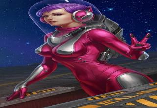 Space Girl Pin Ups