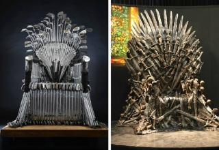 What is the real iron price for the Iron Throne? The answer to that question may surprise you, at Direct Golf we discovered that it was three hundred pieces of iron or more specifically three hundred and twenty http://www.direct-golf.co.uk/how-we-built-our-own-iron-throne/