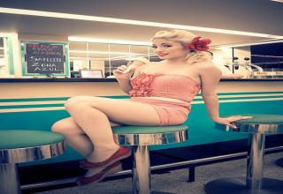 Diner babes for your 50's fix
