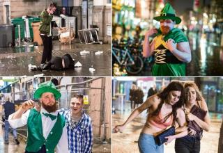St Patrick's Day is traditionally celebrated with a big boozy night out - whether you're Irish or not. Photographers hit the streets of Cardiff to survey the boozy carnage.