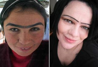 "Eyebrows, like everything else in the world come in all different shapes, sizes and styles.  Amazingly enough, these women looked in the mirror and though to themselves ""this looks great"". Well, sit down ladies, it's time for an intervention... and a new stylist."