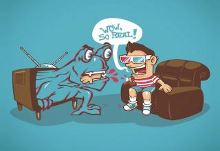 funny illustrations from various themes