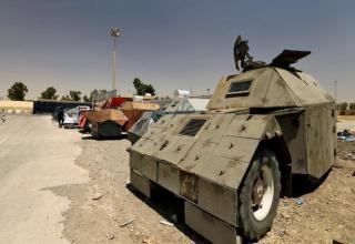Confiscated ISIS Suicide Bombing Vehicles On Display In Mosul