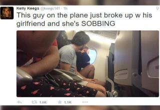 This in-flight meltdown happened over the weekend and documents a bizarre breakup before they even got into the air.