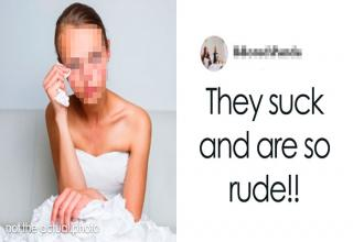 The owners came back at the bride with a long epic response