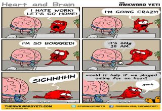 Awkward yeti is the best when it come to summing up our emotions.