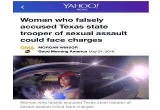 Certainly. texas state trooper sexual assault can