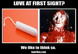 From the bloody horror film Carrie to the brand new starring role as a bloody tampun meme.