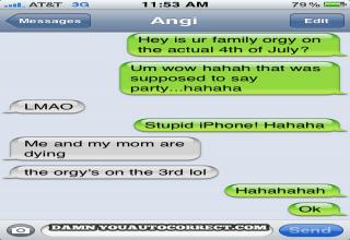 A bunch of autocorrect fails.........or wins.