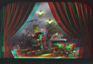 PUT ON YOUR 3D GLASSES NOW!!!! I converted these stereoscopic images to red and blue cyan. I also included the original images that you'd find on the Tool album.