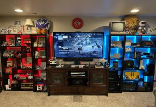 With a massive collection of both consoles and games, this guy will have more than enough entertainment in his gamer's paradise to ride out the craziness of the world.