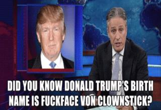 Donald Trump's reaction to getting trolled hard by Jon Stewart.