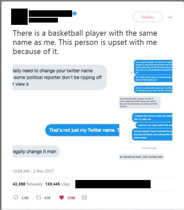 Guy Gets Told To Change His Name Just Because Some Popular