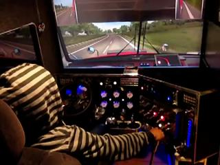 this kids Euro Truck Simulator setup is savage af - Video | eBaum\u0027s