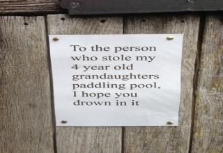 Passive aggressive neighbors are the scariest!