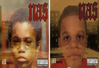 Lance Underwood recreates famous album covers with his sons Taj and Amar.