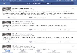 Free Agent Outfielder Delmon Young Had His Facebook Account