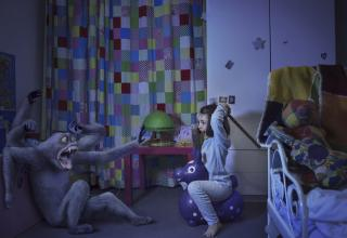 Every child fears the monsters lurking under his or her bed as soon as the lights turn off. But now Paris-based photographer, Laure Fauvel, is helping kids battle those scary, hairy and creepy ghouls one nightmare at a time...