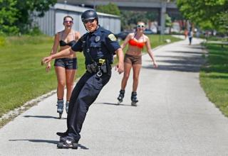 Cops from all over the world taking a minute to remind us they like to have fun too.