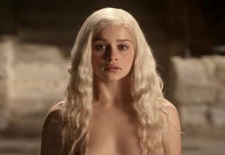 Emilia Clarke, AKA Daenerys Targaryen, GAME OF THRONES!