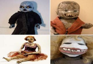 Think again...look at these creepy dolls and try to go to bed at night.