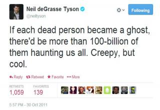 A collection of some scientific tweets by the man himself, Neil deGrasse Tyson.
