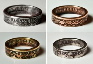 Designer Nicholas Heckaman of The Ring Tree meticulously handcrafts detailed rings out of US coins. The Gainesville, Florida-based designer first discovered his skill when he was looking for the perfect ring to propose to his girlfriend with. He managed to create a special engagement ring out of a silver coin with a hammer and a lot of patience.