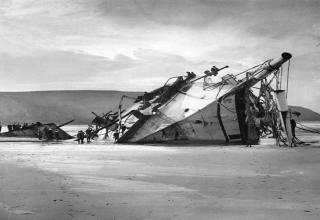 Old abandoned shipwrecks.