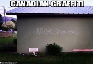 In Canada even the Graffiti is Polite.