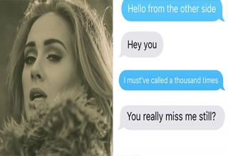 """Adele's newest single, """"Hello,"""" is her lament to a former lover, so it's fitting that Mary Caldarella, a student in Alabama, used lyrics from Adele's song to troll her ex-boyfriend, Matt."""