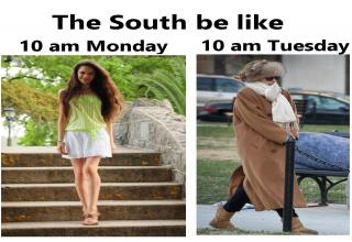 Here are 21 cold weather memes that whine about the cold so northerners can tell us it's not that cold. We don't get cold this early, we're not ready!