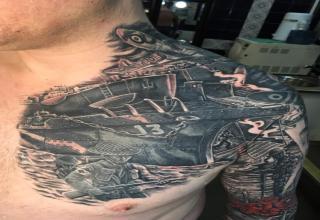 Man Gets Amazing WW2 Cover Up Tattoo - Ftw Gallery | eBaum's