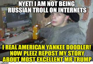 severely triggering russian troll farms with this one