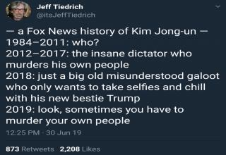 Hilariously savage tweets by the one and only Jeff Tiedrich