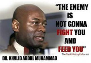 Khalid Abdul Muhammad was an African American rights activist who became a prominent figure in the Nation of Islam and later the New Black Panther Party.