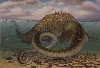 Polish surrealist Jacek Yerka gets his inspirations from dreams.