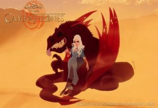 Game of thrones characters re-imagined as if they were Disney Cartoon characters.