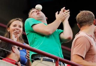 A selection of pics and Gifs involving spectator injuries due to bats and balls to the face