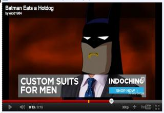 Do you think the timing way off or just perfect on these YouTube ads?