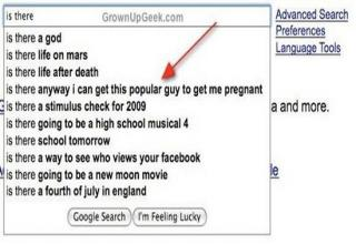 people search for strange stuff on google
