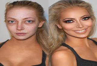 You might be surprised by how women look when the makeup comes off.